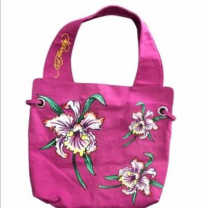 Ed Hardy Floral Tote